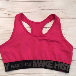 a2495c3107 Flag nor Fail Making History Pink Sports Bra Xl